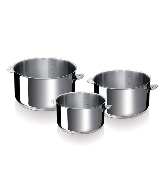 Evolution 3 pcs saucepan set